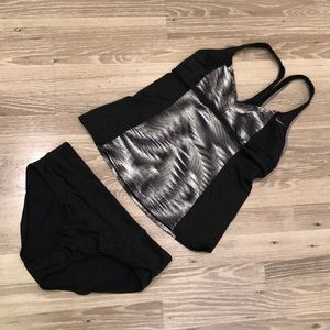 NIKE 2 Piece Bathing Suit Womens M